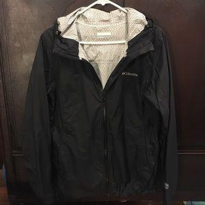 Columbia Sportswear Black Rain Jacket/Windbreaker